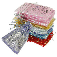 20x 50x 100x Organza Jewelry Wedding Gift Pouch Bags 7x9cm Mix Color BKB