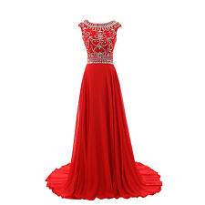 Cap Sleeve New Long Chiffon Evening Dresses Formal Special Occasion Prom Dress
