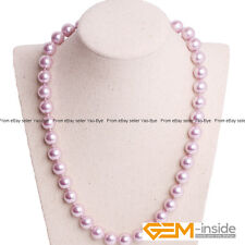 """10mm Shell Pearl MOP Beads Handmade Finished Gemstone Necklace 18"""" Colors Pick"""
