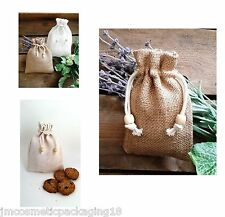 Jute Bags Hessian Bag Jute Sack Drawstring Pouch Natural Gift Bag Party Bag