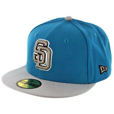New Era 59Fifty San Diego Padres Fitted Hat (Turquoise/Grey/Black) Men's MLB Cap