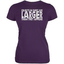 Objects Bigger Than They Appear Purple Juniors Soft T-Shirt