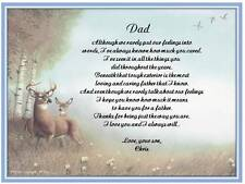 Dad Personalized Poem Gift For Fathers Day Birthday