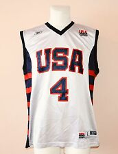 TEAM USA, BASKETBALL JERSEY BY REEBOK, #4 IVERSON, MENS LARGE