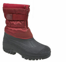 Ladies Snow Boots Winter Waterproof Warm Grip Ice Rain Size 3,4,5,6,7,8  Zip New