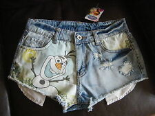 PRIMARK DISNEY FROZEN OLAF DENIM SHORTS HOT PANTS DENIM SHORTS SIZE 6-18 BNWT