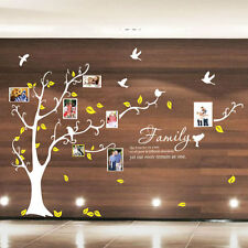 Family Tree Bird Photo Frame Nursery Art Wall Stickers Quotes Wall Art Decals