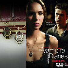 The Vampire Diaries Inspired Elena's Vervain crystal charm pendant necklace