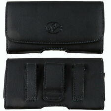 Large Leather Case Holster fits w/ Otterbox on for Cricket ZTE Phones