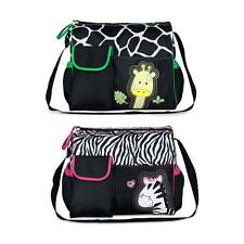 Large Capacity Cartoon Baby Diaper Nappy Shoulder Bag w/ Changing Pad Liner RL58