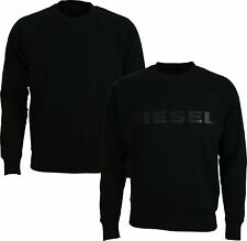 NEW MENS DIESEL SWEATSHIRT S-JAPPIE BLACK - Reversible Sweater Jersey Tshirt