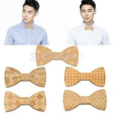 Novelty Wooden Men's Boy's Magnet Bow Tie Wedding Party Bowtie Wood Ideal Gift
