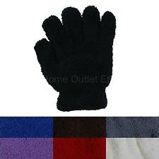 Women's Fuzzy Fashion Gloves Winter Warm Furry Stretch Soft Plush Plain Solid