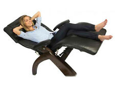 NEW Leather PC-510 DARK WALNUT Human Touch Zero Gravity Perfect Chair Recliner