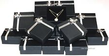 LOT OF 1~288pc BLACK LARGE PENDANT BOXES EARRING BOXES BOW TIE GIFT BOXES  DEAL