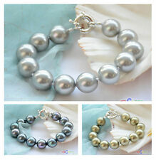 "D0039 8"" 14mm round SOUTH SEA SHELL PEARL BRACELET"