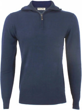 PULL HOMME COL ZIP CAMIONNEUR YVES ENZO LAINE-CACHEMIRE NUIT FONCEE TAILLE S
