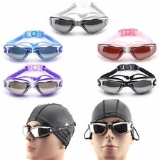 Adjustable Nose Belt Antifog UV Protect Swimming Goggles Swim Glasses w/ Earplug