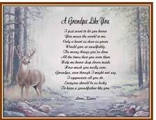 Grandfather Grandpa Personalized Poem Gift Father's Day Birthday Christmas