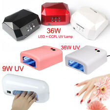 9/18/36W UV Nail Polish Dryer Lamp Gel Acrylic Curing UV LED Lamp+CCFL100-240V