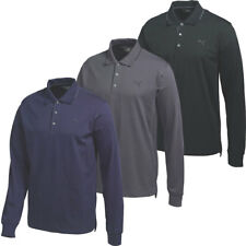 Puma Golf Mens Long Sleeve Solid Polo Shirt 570099 LS DryCELL Tech