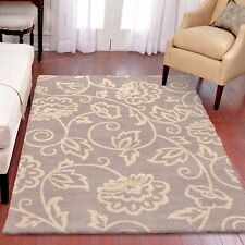RUGS AREA RUGS CARPET 8x10 AREA RUG LARGE RUGS GRAY FLORAL RUGS IVORY MODERN~NEW