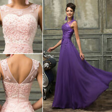 Long Masquerade Bridesmaid Formal Party Prom EVENING Gown Dress 6/8/10/12/14/16+