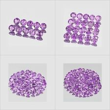 3mm Lot 10,20,50,100pcs Round Cut Accent Stone Natural A Purple AFRICA AMETHYST