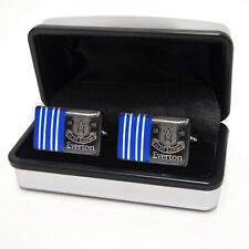 Everton FC Official Football Gift Boxed Chrome Executive Cufflinks
