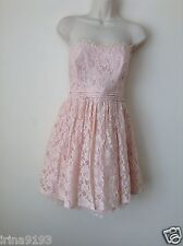 Next Geri Women`s Ladies Prom Lace Pink Strappy Dress Size 14Petite,16Petite