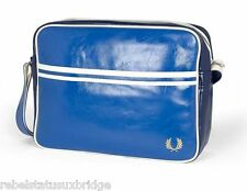 Classic Fred Perry Messenger Shoulder Record School Bag L5251 Regal / Navy