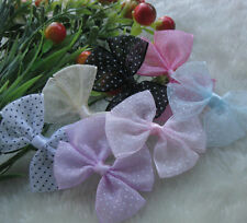 21PCS Organza Ribbon Bows Flowers DIY Wedding Applique Accessorries