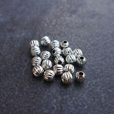 10pcs,925 sterling silver,4~8mm,Corrugated Ball Beads,Spacer,DIYJewelry findings