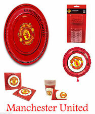 Manchester United Football Club MUFC Party Supply Pack Of 8 Plates Cups Napkins