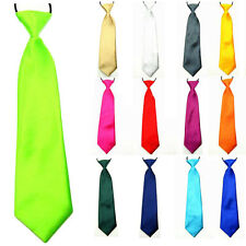 Kids Child Boy Baby Solid Color Satin Pre-tie Necktie School Party Wedding Tie