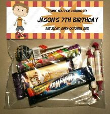 PERSONALISED BIRTHDAY LOLLY/LOOT BAG & TOPPER - SKATEBOARD