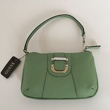 GUESS NWT Womens Zip Wristlet Purse Clutch Handbag Wallet Sage Green RARE