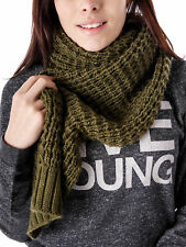 Samaya Winter Scarf Scarf Knit Scarf green soft narrow long knitted