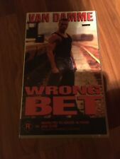 WRONG BET - VAN DAMME - RATED R -  VIDEO VHS