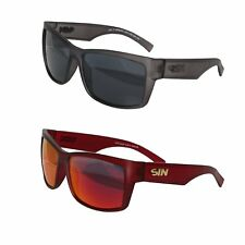 New SIN Sunglasses Eyewear Polarised Red Grey Offence Genuine