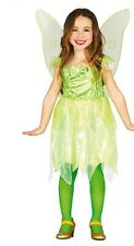 Girls Green Forest Fairy Princess Book Day Halloween Fancy Dress Costume Outfit