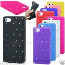 Bling Diamond Silicone Skin Gel Rubber Case Cover For New Apple iPhone 5S, 5