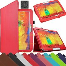 "Leather Flip Stand Folio Case Cover For Samsung Galaxy Note 3 10.1"" P600 2014"