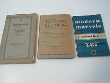 3 x Vintage Text Books SCIENCE, LAW, Labour Government