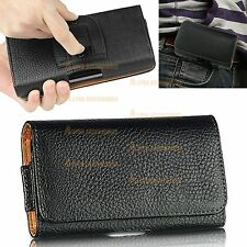 Leather Flip Belt Clip Hip Loop Holster Pouch Case Cover For Mobile Phone's HTC