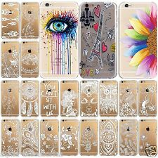 TPU Printed Thin Soft Silicon Rubber Case Skin Cover For iPhone 7, 6s, 6,SE,5s,5