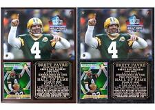 Brett Favre #4 Pro Football Hall of Fame Photo Card Plaque Green Bay Packers