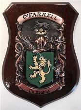 HANNON to HARTIGAN Family Name Crest on HANDPAINTED PLAQUE - Coat of Arms
