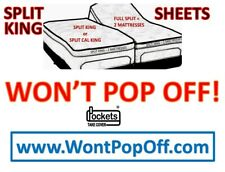 WON'T POP-OFF SPLIT KING, CAL KING SHEETS FOR TEMPURPEDIC SLEEP NUMBER &OTHERS