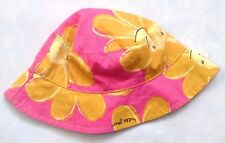 Next Baby Girl`s Floral Print Pink and Yellow Summer Fisherman Hat Size 3-6mths